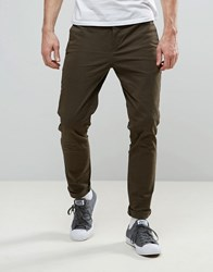 Religion Skinny Fit Chino With Stretch Khaki Green