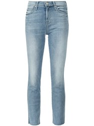 Mother 'Rascal' Snippet Jeans Blue