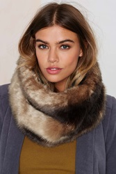 Nasty Gal Neck And Neck Faux Fur Infinity Scarf