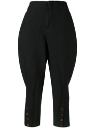 Comme Des Garcons Cropped Trousers Women Polyester S Black