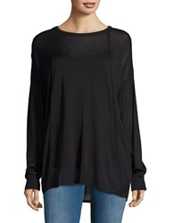 Bench Boat Neck Long Sleeve Knit Top Jet Black