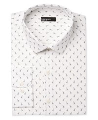 Bar Iii Men's Slim Fit Bee Print Dress Shirt Only At Macy's White