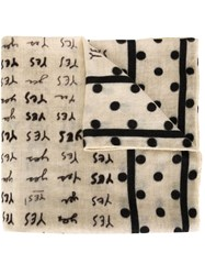 Massimo Alba Printed Scarf Nude And Neutrals