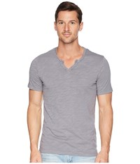 Mod O Doc Topanga Short Sleeve Notch V Neck Tee Grey Sky T Shirt Gray