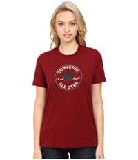 Converse Core Solid Short Sleeve Core Patch Crew Tee Red Block Women's T Shirt