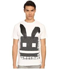 Mcq By Alexander Mcqueen Gothic Dropped Shoulder Tee Optic White 1 Men's Short Sleeve Pullover