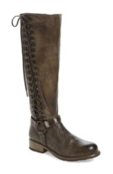 Bed Stu Women's Burnley Knee High Corset Boot Taupe Dip Dye Leather