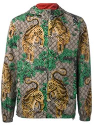 Gucci Bengal Tiger Print Jacket Forest
