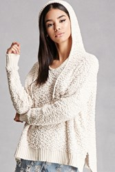 Forever 21 Fuzzy Knit Hooded Sweater