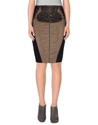 Elisabetta Franchi Gold Skirts Knee Length Skirts Women Black