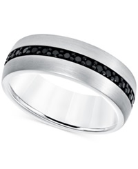 Macy's Black Sapphire Band 7 8 Ct. T.W. In White Tungsten Carbide