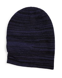 The Men's Store At Bloomingdale's Wool Cashmere Slouch Beanie Navy Twist Black