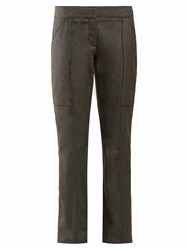 Stella Mccartney Straight Leg Wool Trousers Grey