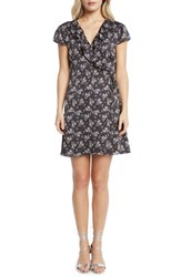 Willow And Clay Print Wrap Dress Black