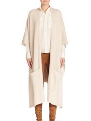 Polo Ralph Lauren Cashmere And Silk Open Front Cardigan Cream