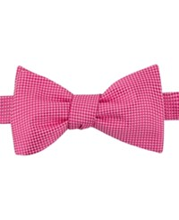 Tommy Hilfiger Men's Textured Solid To Be Tied Bow Tie Pink