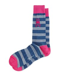 Melange Striped Socks Berry Pink Psycho Bunny