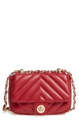 Bp. Quilted Faux Leather Crossbody Bag Red