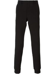 Emporio Armani Gathered Ankle Trousers Black