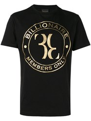 Billionaire Logo T Shirt Black