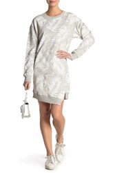 Current Elliott The Breck Palm Print Sweatshirt Dress Tropic Pal