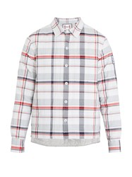Moncler Gamme Bleu Check Quilted Down Shirt Multi