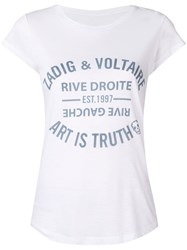 Zadig And Voltaire Logo Print T Shirt White