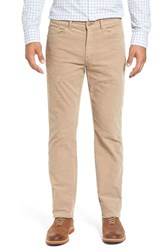 Peter Millar Men's Big And Tall Tailored Straight Leg Stretch Corduroy Pants Barley