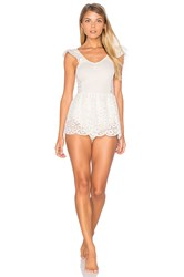 For Love And Lemons Daisy Romper Ivory
