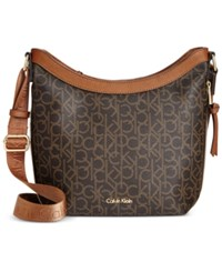 Calvin Klein Hudson Messenger Brown Khaki Luggage Saffiano