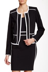 Dex Two Tone Blazer Black