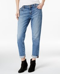 Eileen Fisher Cuffed Boyfriend Jeans Sky Blue