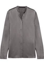 Haider Ackermann Silk Satin Shirt Gray