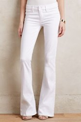 Anthropologie Paige Lou Lou Flare Petite Jeans White 27 Petite Pants