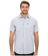 Hurley One And Only 2.0 S S Woven Wolf Grey Men's Short Sleeve Button Up Gray