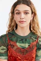Urban Outfitters Chain Statement Earring Gold