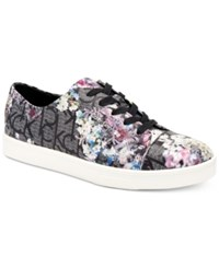 Calvin Klein Women's Imilia Embossed Logo Sneakers Women's Shoes Black Floral