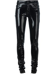 Anthony Vaccarello Vinyl Skinny Trousers Black