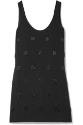 Elizabeth And James Greene Embellished Crepe Mini Dress Black