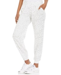 Style And Co. Petite Space Dye Pull On Sweatpants White Fleck