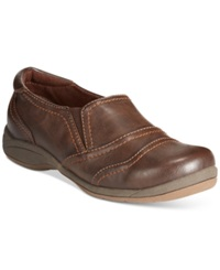 Easy Street Shoes Easy Street Galaxy Slip On Loafers Women's Shoes Brown