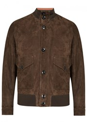 Paul Smith Brown Suede Bomber Jacket