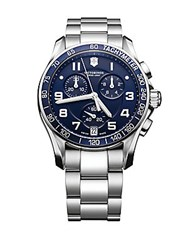 Victorinox Chronograph Stainless Steel Watch Blue