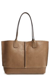 Frye Adeline Leather Tote Brown Fatigue
