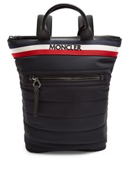 Moncler Cerro Logo Embroidered Quilted Backpack Black Multi