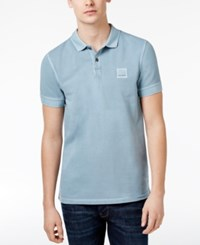 Hugo Boss Orange Men's Pascha Cotton Polo Light Pastel Blue