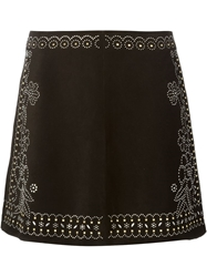 Valentino Beaded Skirt Black