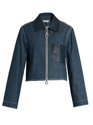 Edun Point Collar Patch Pocket Denim Jacket