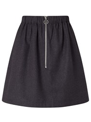 Minimum Axelia Front Zip Skirt Grey
