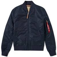 Alpha Industries Ma 1 Vf 59 Flight Jacket Blue